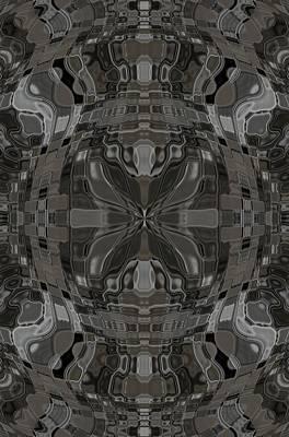 Digital Art - Wavy Abstract Art Design  by Sheila Mcdonald
