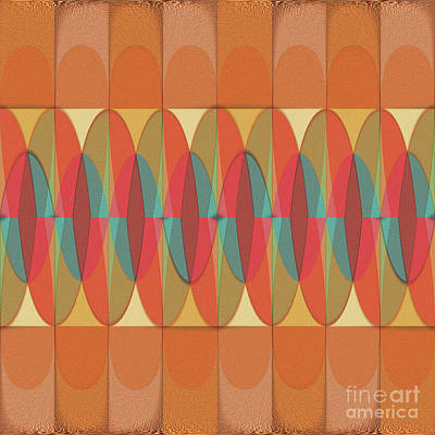 Wavy Color Stripe Art Print