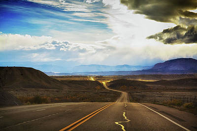 Photograph - Wavy, Glowing Country Road In Utah by Tatiana Travelways
