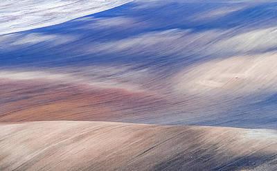 Photograph - Wavy Hills Abstract. Moravian Tuscany by Jenny Rainbow