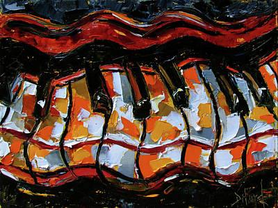 Wall Art - Painting - Wavy Keys by Debra Hurd