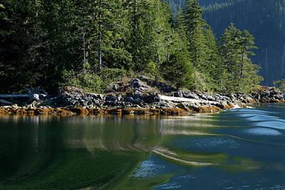 Nootka Sound Photograph - Wavy Reflections - 365-161 by Inge Riis McDonald