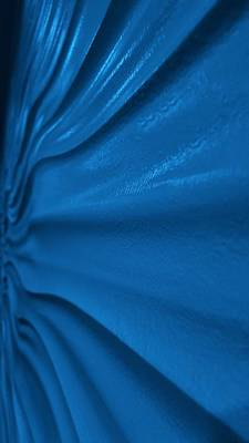 Photograph - Wavy Wall Blue by Rob Hans