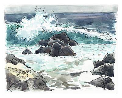 Wawaloli Beach, Hawaii Art Print