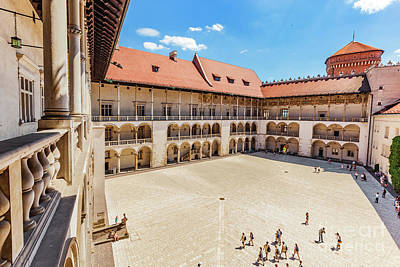 Column Photograph - Wawel Castle, Cracow, Poland. The Tiered Arcades Of Renaissance Courtyard. by Michal Bednarek