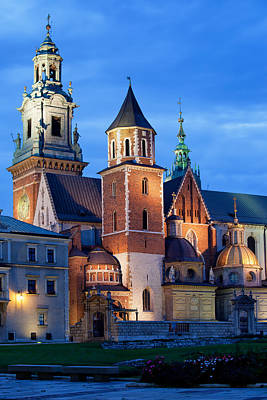 Photograph - Wawel Royal Cathedral By Night In Krakow by Artur Bogacki