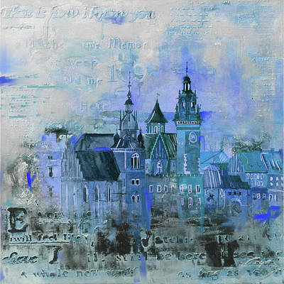 Poland Painting - Wawell Castle, Poland by Mawra Tahreem