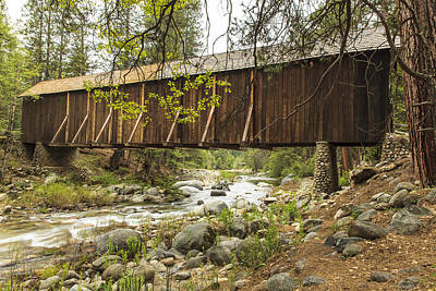 Photograph - Wawona Covered Bridge Yosemite by Ben Graham