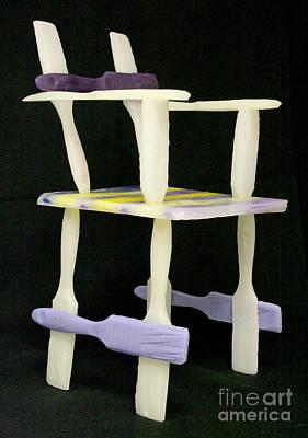 Wax Chair Print by Karen  Peterson