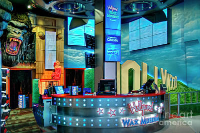 Photograph - Wax Museum Hollywood Lobby by David Zanzinger
