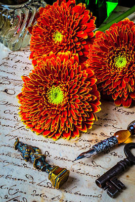 Photograph - Wax Seal And Mums by Garry Gay