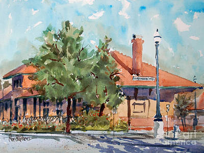 Painting - Waxachie Train Station by Ron Stephens