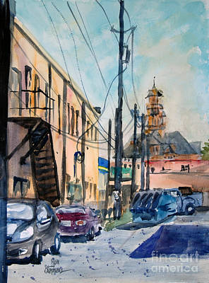 Painting - Waxahachie Back Alley by Ron Stephens
