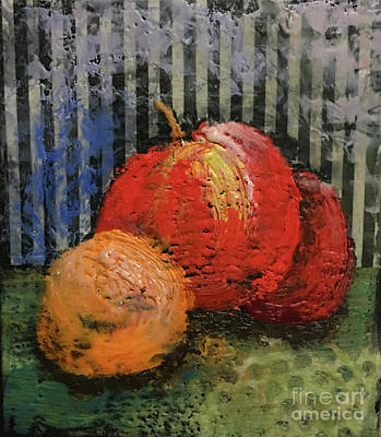 Mixed Media - Waxed Fruit by Cindy DeGraw