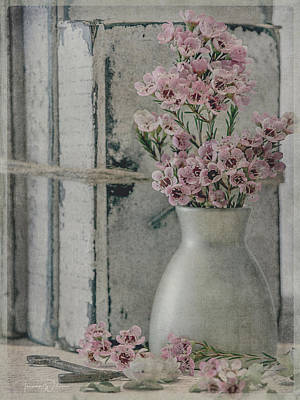Photograph - Waxflowers And Books by Teresa Wilson