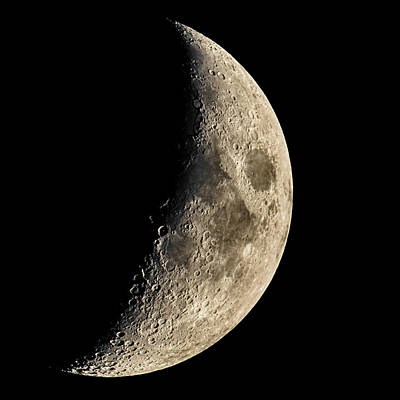 Photograph - Waxing Crescent by Chris Austin