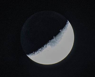 Photograph - Waxing Crescent by Mary Ward