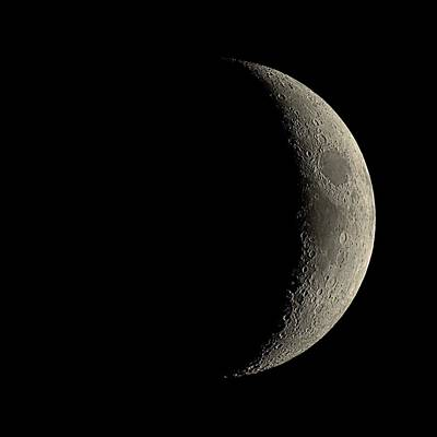 Waxing Crescent Moon Art Print