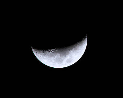 Crescent Moon Photograph - Waxing Crescent Night 4 by Mark Andrew Thomas