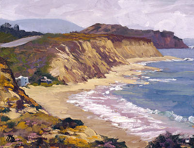 Way Above The Cove Art Print by Mark Lunde