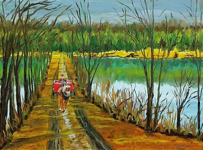 Painting - Crossing The Canal by Mike Caitham