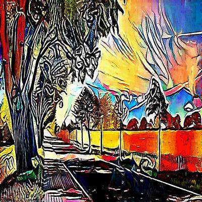 Scottsdale Drawing - way arizona - My WWW vikinek-art.com by Viktor Lebeda