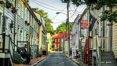 Photograph - Way Downtown by Walt Baker