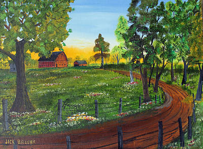 Painting - Way Home by Jack G  Brauer