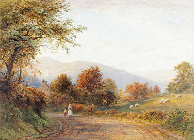 Painting - Way Into Abergavenny From Llanfoist by Roberto Angelo Kittermaster Marshall