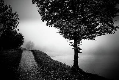 Photograph - Way Near The Foggy River by Holger Debek