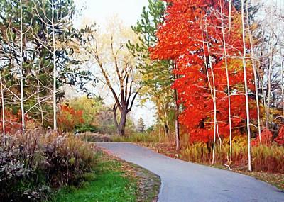 Photograph - Way To Autumn by Munir Alawi