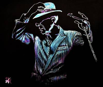 Drawing - way to be free...Leonard Cohen by Heidi Kriel