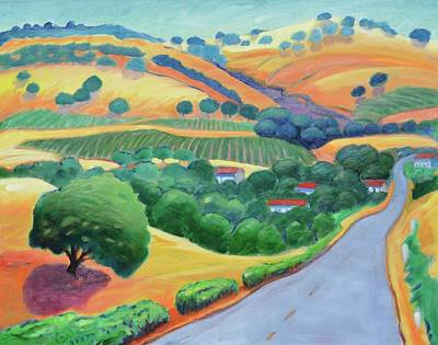Rolling Hills Vinyards Painting - Way To Bear by Gary Coleman