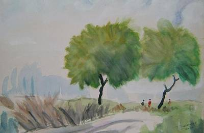 Etc. Painting - Way To Field by Dharminder Pabma