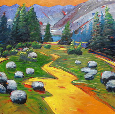 Painting - Way To The Lake by Gary Coleman