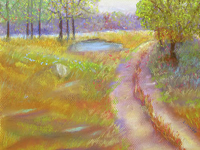 Pastel - Way To The Pond by Loretta Luglio
