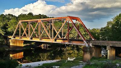 Digital Art - Waycross Trestle Bridge by Mark Baranowski