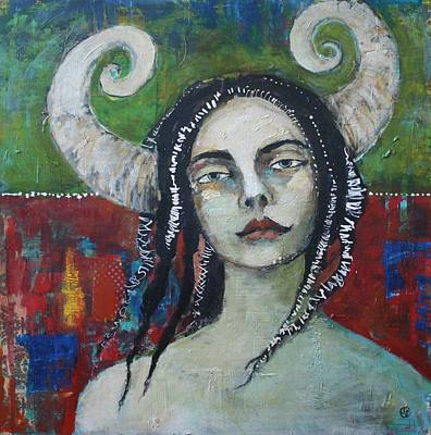 Warrior Woman Wall Art - Painting - Wayfaring Stranger by Jane Spakowsky