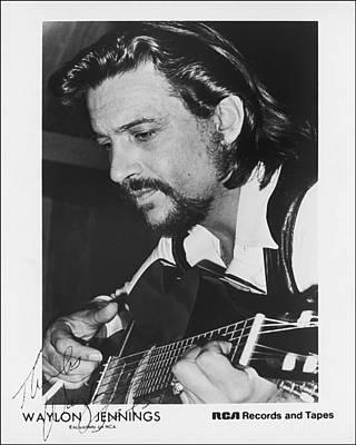 Waylon Jennings 1971 Signed Art Print