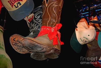 Luckenbach Photograph - Waylon Jennings Boots by Susanne Van Hulst