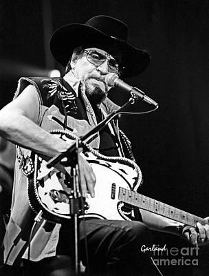 Cowboy Hat Mixed Media - Waylon Jennings by Garland Johnson