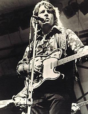 Waylon Jennings In Concert, C. 1974 Print by Everett