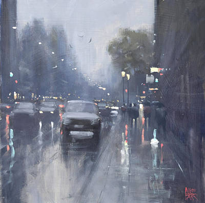 Wall Art - Painting - Waymouth Street Reflections by Mike Barr