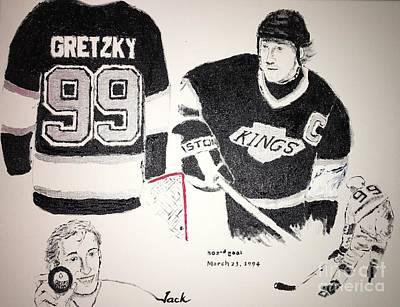 Wayne Gretzky Painting - Wayne Gretzky by Jack Bunds