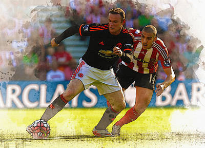 Wayne Rooney Digital Art - Wayne Rooney Is Marshalled by Don Kuing