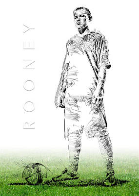 Wayne Rooney Print by ISAW Gallery