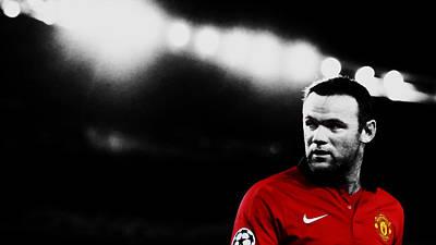 Wayne Rooney Mixed Media - Wayne Rooney Ready To Strike by Brian Reaves