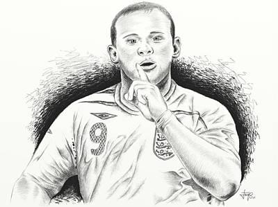 Wayne Rooney With Enggland Art Print by Yudiono Putranto