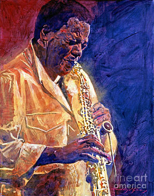Jazz Legends Wall Art - Painting - Wayne Shorter The Message by David Lloyd Glover