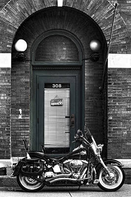 Photograph - Wayne's Harley by Jeff Swanson